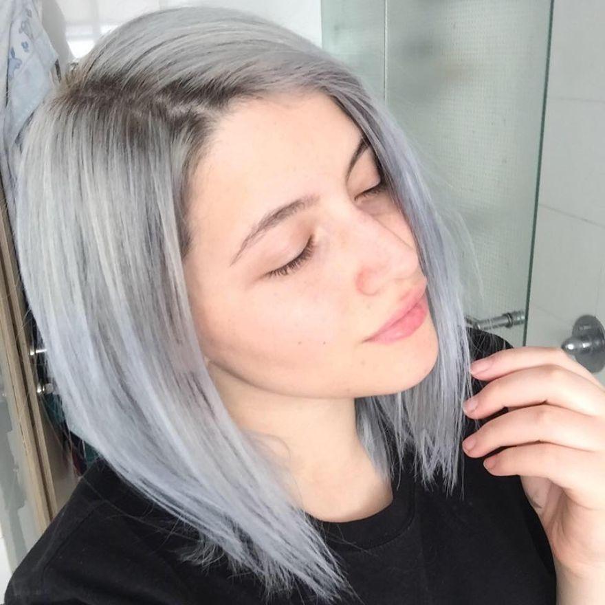 Couleur gris perle pour cheveux