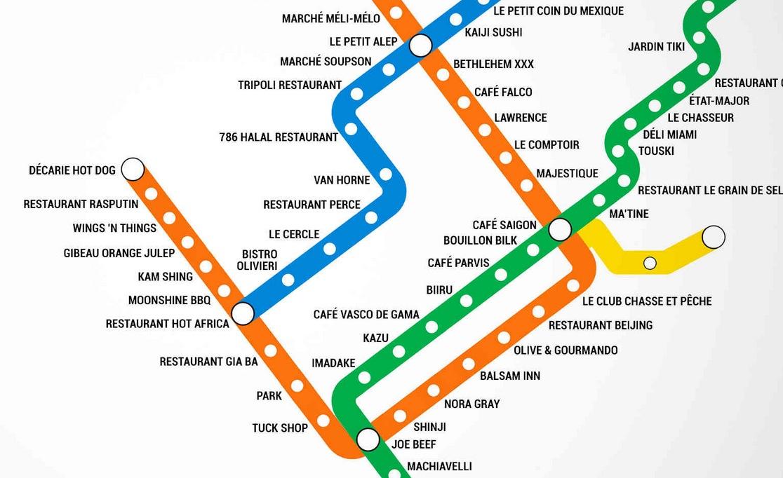 une carte du m tro de montr al sur laquelle les noms des stations sont remplac s par des noms de. Black Bedroom Furniture Sets. Home Design Ideas
