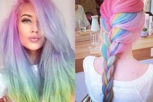 cheveux gris violet