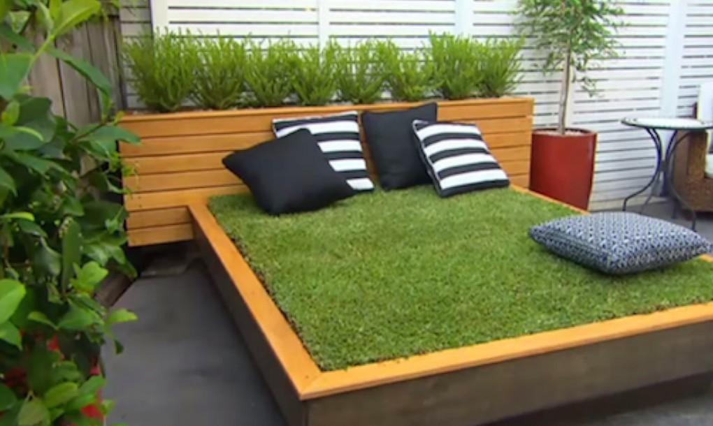 tu aimes les siestes sous le soleil voici comment te faire un magnifique lit de gazon petit. Black Bedroom Furniture Sets. Home Design Ideas