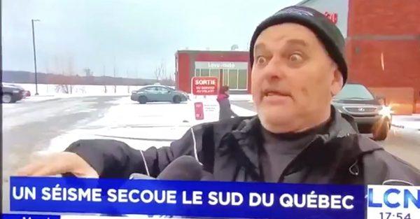 Il se fait interviewer par TVA et il vole la vedette du reportage
