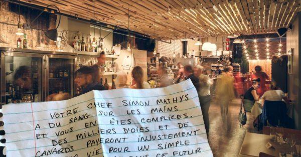 C'est maintenant au tour du restaurant montréalais Manitoba d'avoir la visite de militants véganes