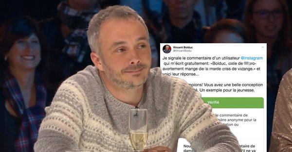 L'acteur et chroniqueur Vincent Bolduc se fait insulter sur Instagram