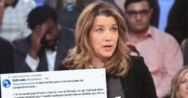 Sophie Durocher a reçu des insultes suite à une chronique sur Lucie Laurier