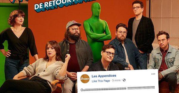 Les Appendices viennent d'annoncer leur retour dès novembre