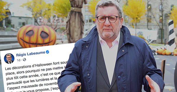Le maire de Québec Régis Labeaume fait une annonce pour combattre la noirceur