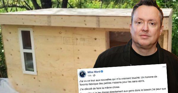 Mike Ward va acheter 25 mini-maisons pour les sans-abris de Montréal