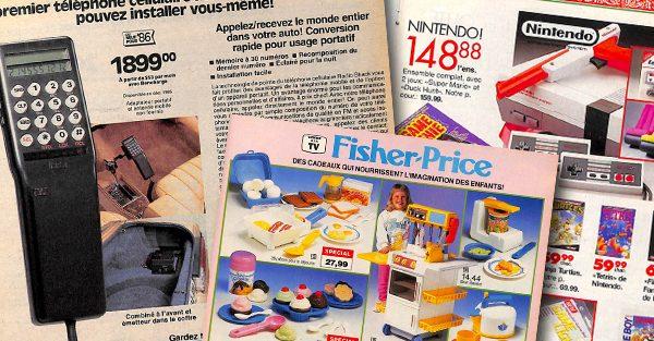 Les pages des catalogues du Québec des années 80 et 90
