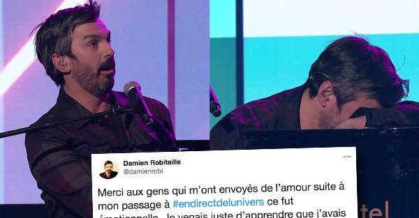 Damien Robitaille Explique Sa Touchante Reaction Lors De L Emission En Direct Du Jour De L An Petit Petit Gamin