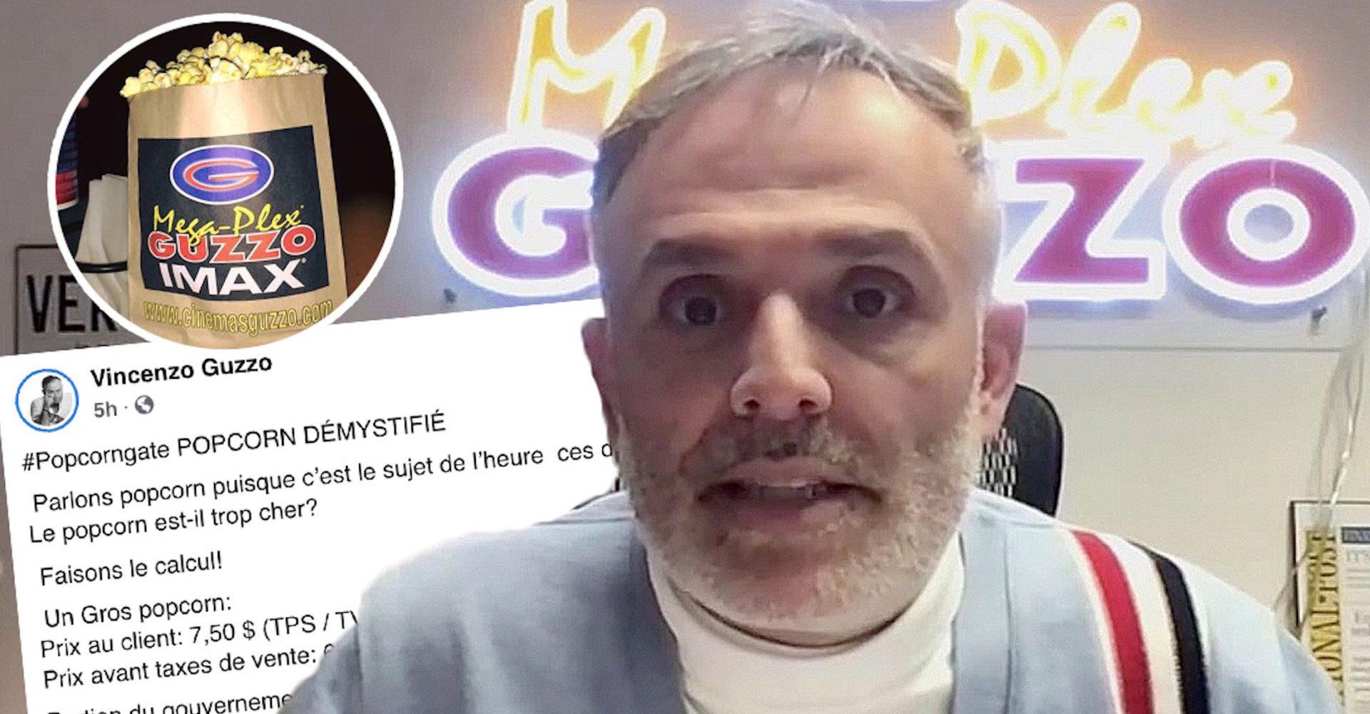 Vincenzo Guzzo explique que le popcorn dans ses cinémas n'est vraiment pas cher