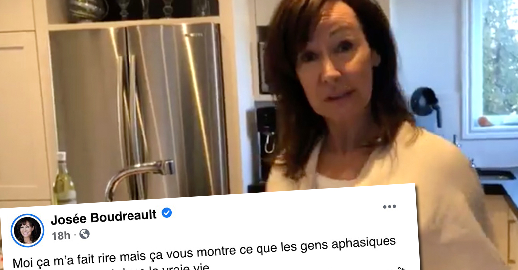 Josée Boudreault partage un message déplacé qu'elle a reçu et le commente