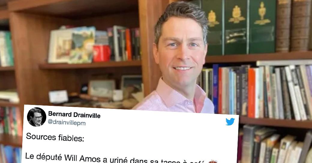 Le député William Amos s'excuse d'avoir uriné dans sa tasse à café pendant les délibérations ...