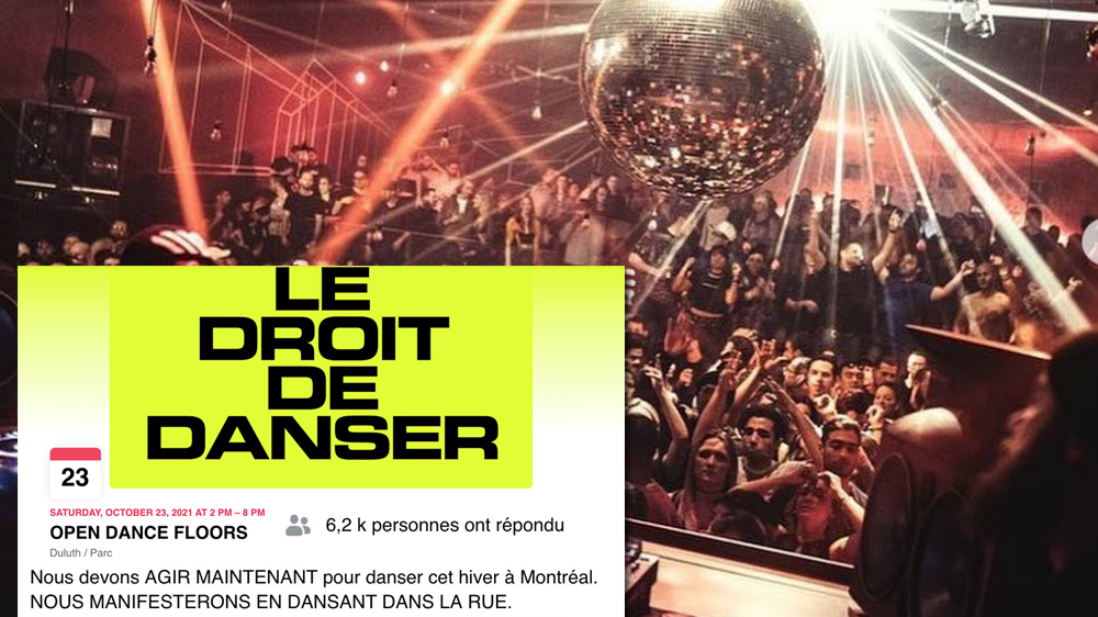 Une énorme manifestation aura lieu à Montréal pour rouvrir les pistes de danse dans les bars