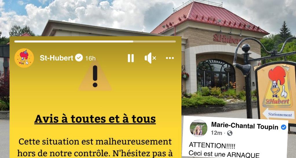 Les rôtisseries Saint-Hubert font un avertissement à sa clientèle