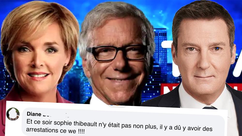 Elle pense que Pierre Bruneau, Patrice Roy et Sophie Thibault se sont faits arrêter